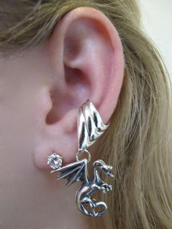 Fire Dragon Ear Cuff Chevron