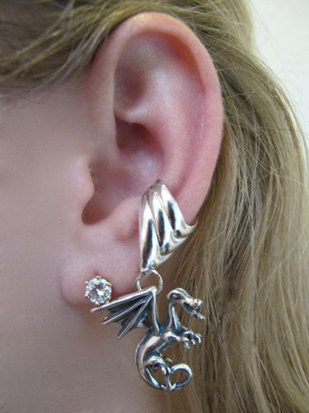 Fire Dragon Ear Cuff Chevron