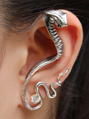 Cobra Ear Wrap - Silver