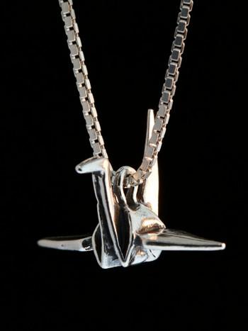 Peace Crane Charm - Silver