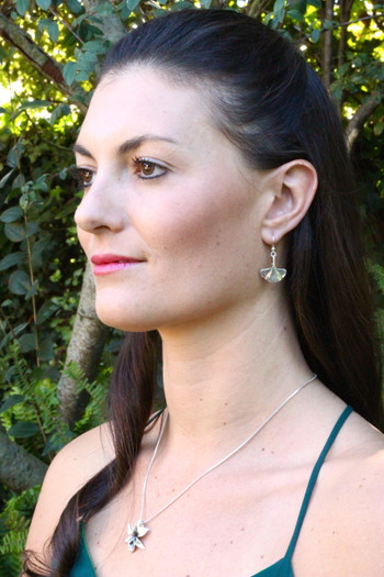 43eb7e755 ... Model is wearing Gingko Leaf Earrings & Orchid Charm ...