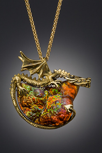 Lava Dragon Pendant - SOLD