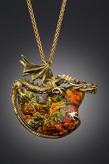 Lava Dragon Pendant - SOLD