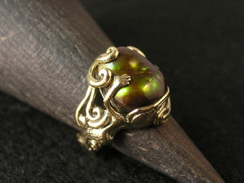 Wave Rider Mermaid Ring with Fire Agate - SOLD