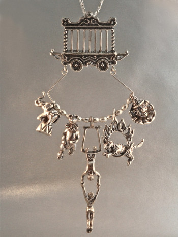 Circus Charm Holder Collection - Silver