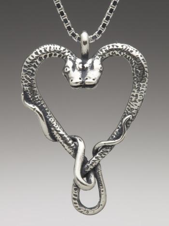 Viper Valentine Pendant in Silver