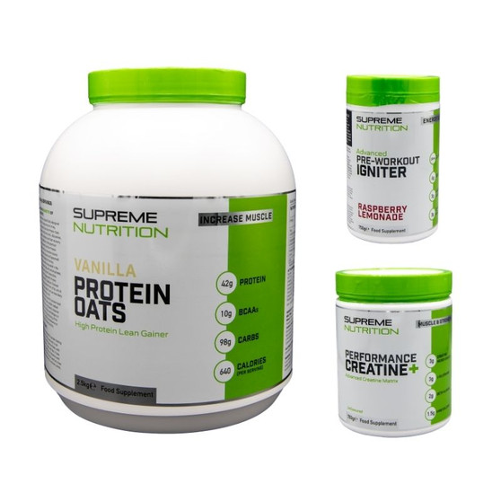 Supreme Nutrition Muscle Gain Stack