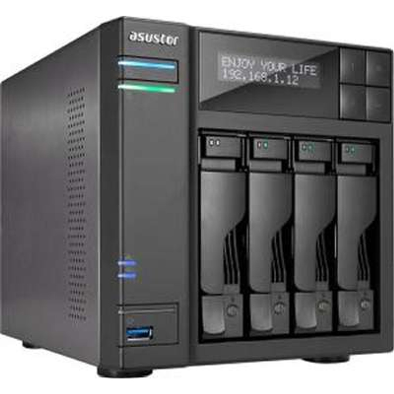 Asustor AS6404T - AS6404T NAS 40TB 4X10TB SATA3 Tower RAID 0/1/5/6/10 Gbe  4-Bay