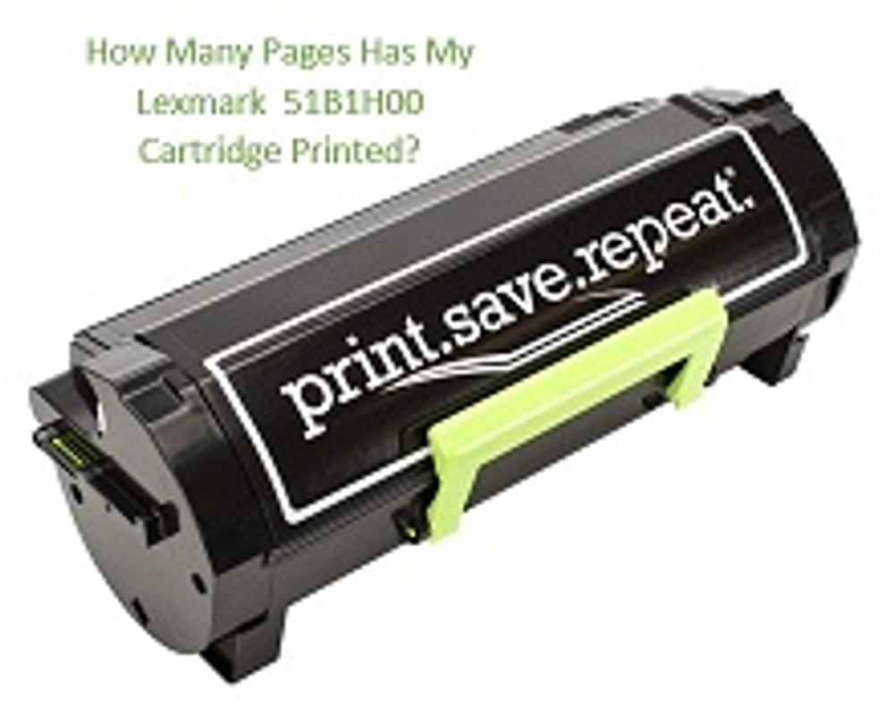 How Many Pages Has My Lexmark 51B1H00 Cartridge Printed?