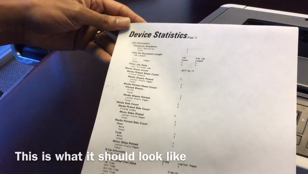 How to Print a Device Statistics Report on Your Lexmark MS510dn