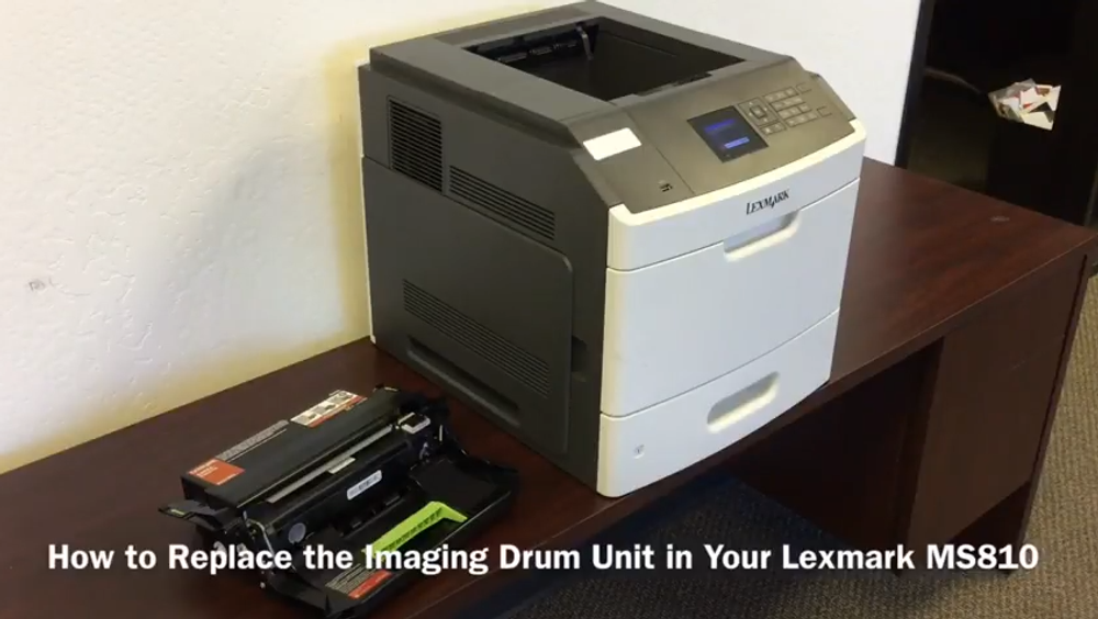 Lexmark MS810: How to Replace the Imaging Drum Unit