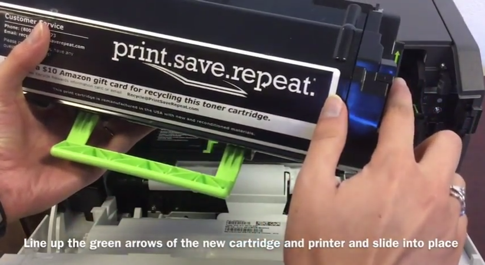 Lexmark MS410d / MS410dn: How to Replace the Toner Cartridge
