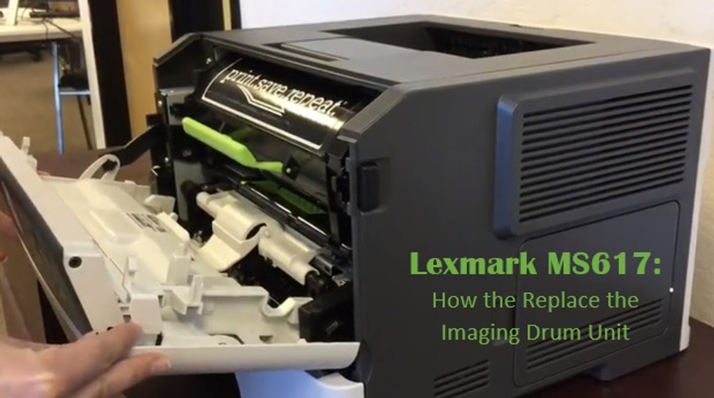 Lexmark MS617dn: How to Replace the Imaging Drum Unit