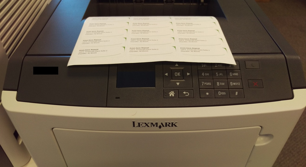 Lexmark MS415dn: How to Set to Print on Labels