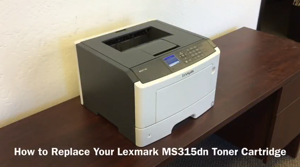 Lexmark MS315dn: How to Replace the Toner Cartridge