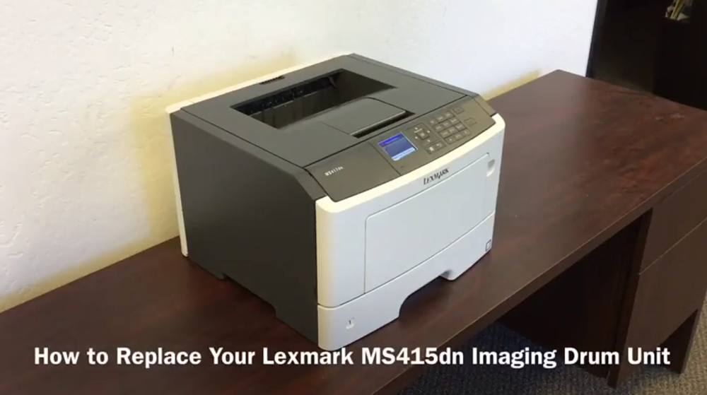 Lexmark MS415dn: How to Replace the Imaging Drum Unit