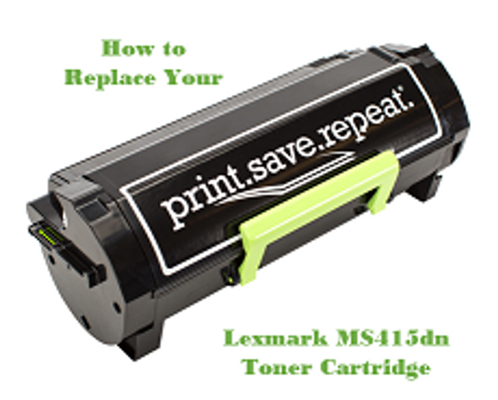 Lexmark MS415dn: How to Replace the Toner Cartridge