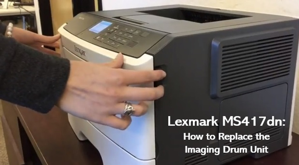 Lexmark MS417dn: How to Replace the Imaging Drum Unit