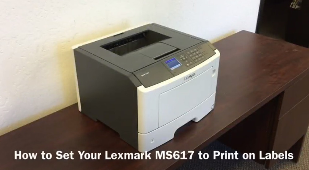 Lexmark MS617: How to Set to Print on Labels