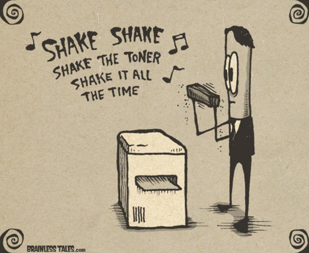TBT: How to Shake a Toner Cartridge