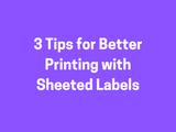 Laser Printer Label Tips
