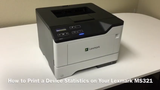 Lexmark MS321: How to Print a Device Statistics Report
