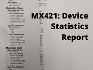 How to Print a Device Statistics Report on Your Lexmark MX421