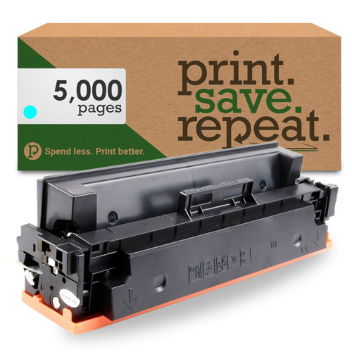 HP 410X Cyan High Yield Compatible Toner Cartridge (CF411X) for M377, M452, M477 [5,000 Pages]