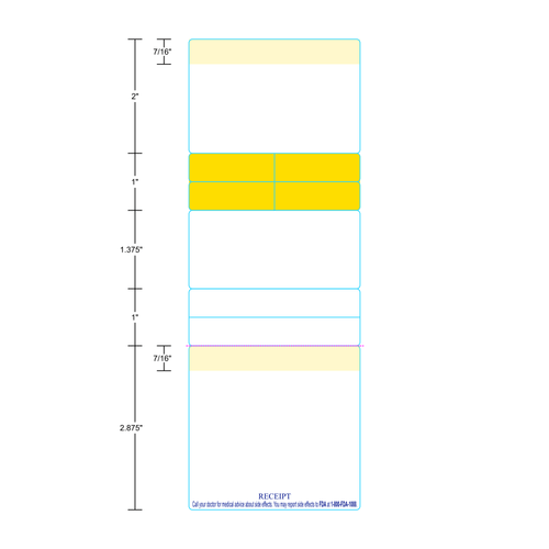 """3"""" x 8.5"""" Direct Thermal Pharmacy Labels"""