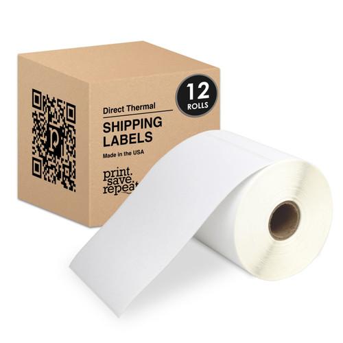 "4"" x 6"" Premium Direct Thermal Labels | 1"" Core | 250 Labels/Roll | 12 Rolls | 3,000 Labels"