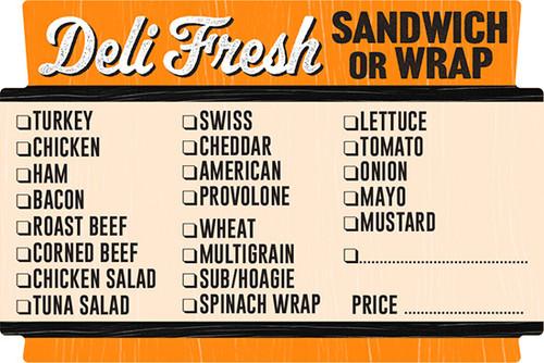 "2"" x 3"" Deli Fresh Sandwich or Wrap Checkoff Label | Roll of 500"