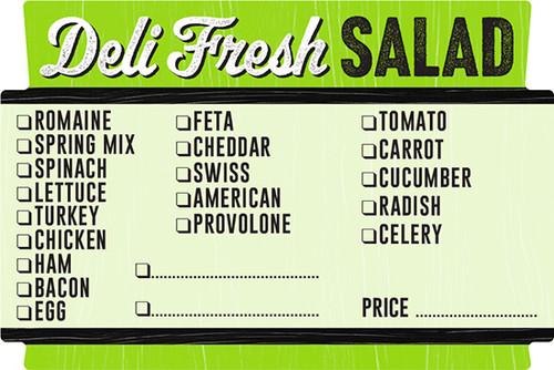 """2"""" x 3"""" Deli Fresh Salad Checkoff Label   Roll of 500"""