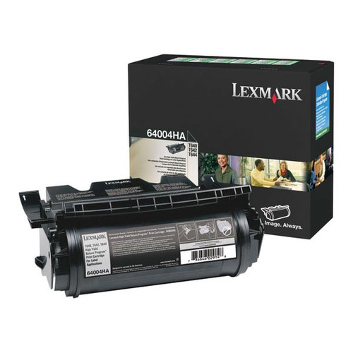 Genuine Lexmark 64004HA High Yield Label Applications Toner Cartridge for T640, T642, T644 [21,000 pages]
