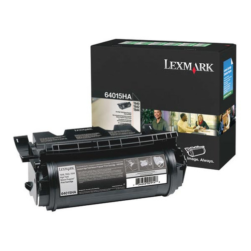 Genuine Lexmark 64015HA High Yield Toner Cartridge for T640, T642, T644 [21,000 pages]