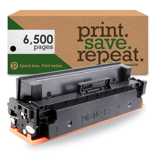 HP 410X Black High Yield Compatible Toner Cartridge (CF410X) for M377, M452, M477 [6,500 Pages]