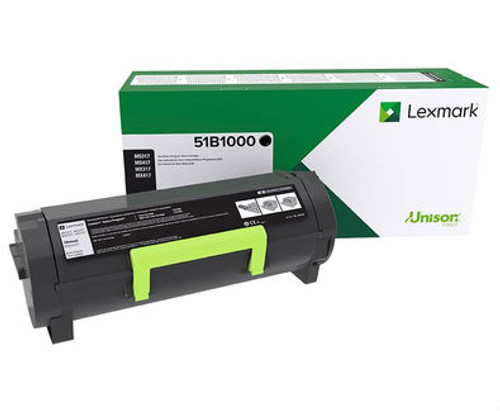 OEM Lexmark 51B1000 Toner Cartridge for MS317, MS417, MS517, MS617, MX317, MX417, MX517, MX617 [2,500 Pages]