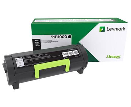 OEM Lexmark 51B1000 Toner Cartridge for MS317, MS417, MS517, MS617, MX317, MX417, MX517, MX617 [2,500 Pages]
