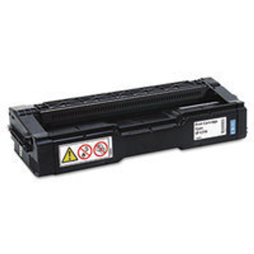 Genuine Ricoh 406476 Cyan High Yield Toner Cartridge for Aficio SP C231, C232, C242, C310, C311, C312, C320 [6,500 Pages