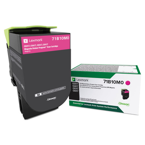OEM 71B10M0 Magenta Standard Yield Toner Cartridge for CS317, CS417, CS517, CX317, CX417, CX517 [2,300 Pages]