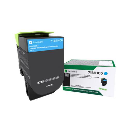 OEM 71B1HC0 Cyan High Yield Toner Cartridge for CS417, CS517, CX417, CX517 [3,500 Pages]