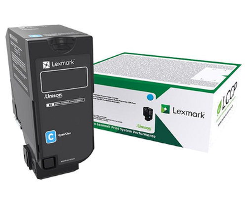 OEM Lexmark 74C1HC0 Cyan High Yield Toner Cartridge for CS725 [12,000 Pages]