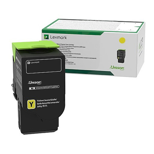 OEM Lexmark 78C1XY0 Yellow Extra High Yield Toner Cartridge for CS421, CS521, CS622, CX421, CX522, CX622, CX625 [5,000 Pages]