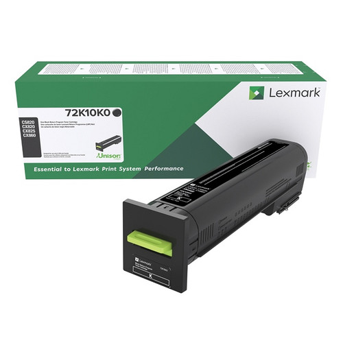 OEM Lexmark 72K10K0 Black Standard Yield Toner Cartridge for CS820, CX820, CX825, CX860 [8,000 Pages]