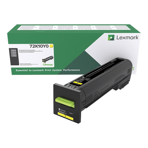 OEM Lexmark 72K10Y0 Yellow Standard Yield Toner Cartridge for CS820, CX820, CX825, CX860 [8,000 Pages]