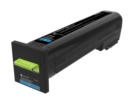 OEM Lexmark 72K1XC0 Cyan Extra High Yield Toner Cartridge for CS820 [22,000 Pages]
