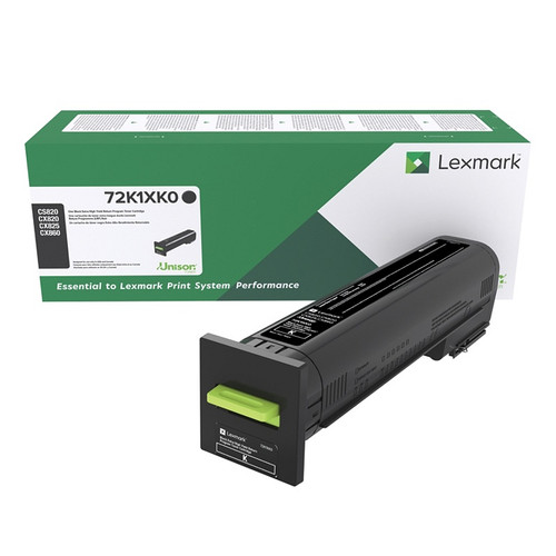 OEM Lexmark 72K1XK0 Black Extra High Yield Toner Cartridge for CS820, CX820, CX825, CX860 [33,000 Pages]