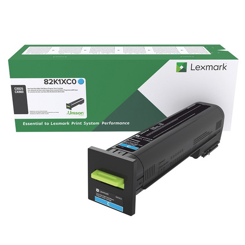 OEM Lexmark 82K1XC0 Cyan Extra High Yield Toner Cartridge for CX825, CX860 [22,000 Pages]