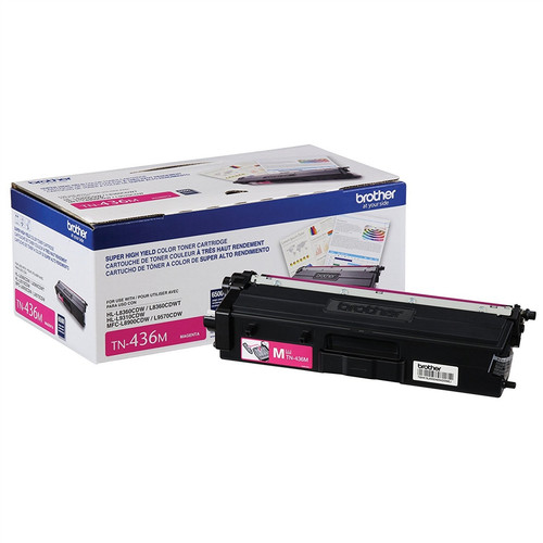 OEM Brother TN-436M Magenta Super High Yield Toner Cartridge for HL-L8360, HL-L9310, MFC-L8900, MFC-L9570 [6,500 Pages]