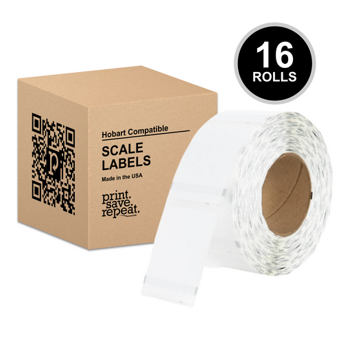 "2.25"" x 3"" Hobart Quantum QWU300 Scale Labels (H254) 