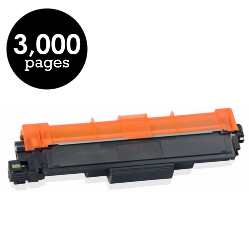 Brother TN-227BK Black High Yield Compatible Toner Cartridge [3,000 Pages]